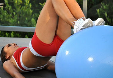Cardio Exercise with Stability Ball