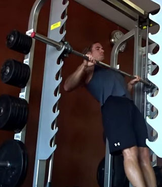 work your back (pull-ups, chin-ups), abs (leg raises while suspended), forearms